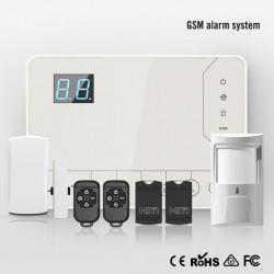 Tủ báo động dùng SIM AL-H5GSM, hỗ trợ cảm biến báo trộm có dây và không dây