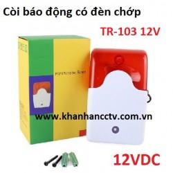 Đèn chớp báo động 220V TR-C2002 có còi hú