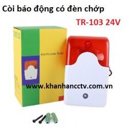 Còi báo động có đèn chớp TR-103 điện 24V