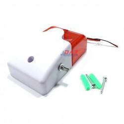 Còi báo động điều chỉnh âm lượng có đèn chớp TR-103V điện 12V,