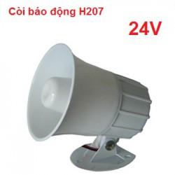 Còi hú báo động có dây H-207 nguồn 24V