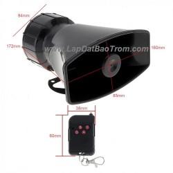 Còi hú báo động công suất lớn 220V TR-C2009W 100W remote điều khiển từ xa