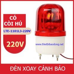 Đèn xoay cảnh báo và cứu hộ LTE-1101LJ có còi, điện 220V
