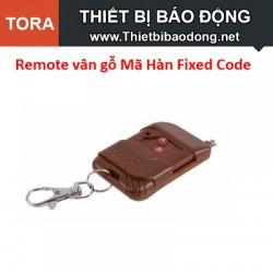 Remote vân gỗ 2 Nút Mã Hàn Fixed Code 433MHz