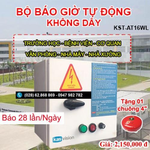 Bộ chuông reo báo giờ tự động không dây KST-AT16WL, đại lý, phân phối,mua bán, lắp đặt giá rẻ